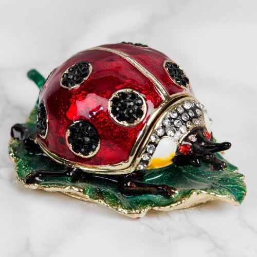 Ladybird Trinket Box Gift Treasured Trinkets Collection by Juliana